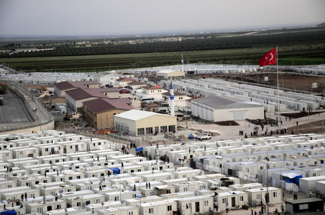 ANADOLU AGENCY HAD OBSERVED CONTAINER CITY BY HELICOPTER